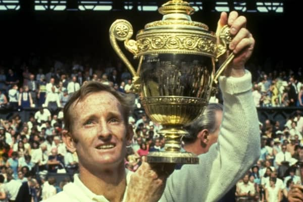 Rod Laver won four Wimbledon titles