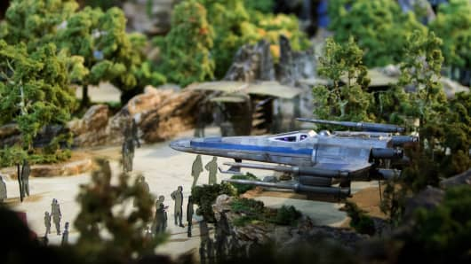 "The Walt Disney Co. ""Star Wars"" lands 3-D model is unveiled ahead of the D23 Expo in Anaheim, California, U.S., on Thursday, July 13, 2017."