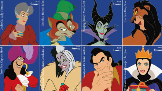 The USPS introduces a new Disney Villains stamp collection.