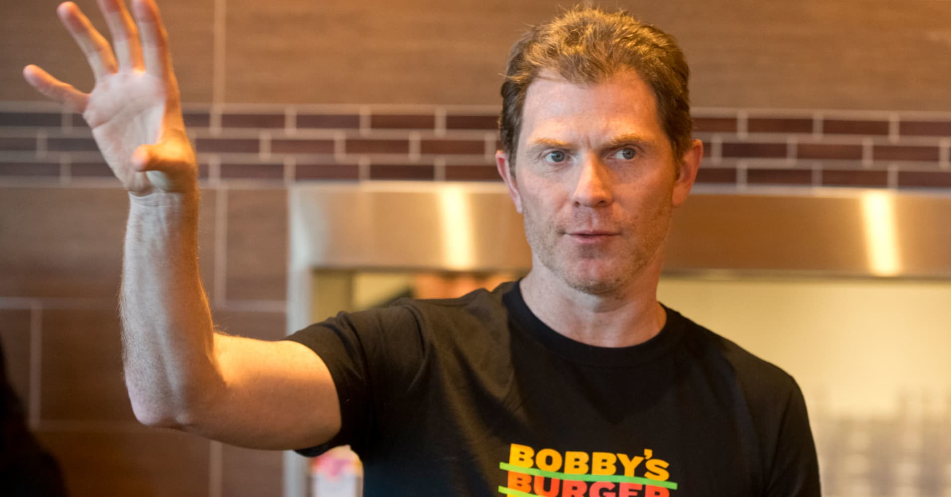 bobby flay Bobby flay at the 148th belmont stakes getty imageseclipse sportswire it's just  after 7 am and the pilot squeezes himself out of the private.