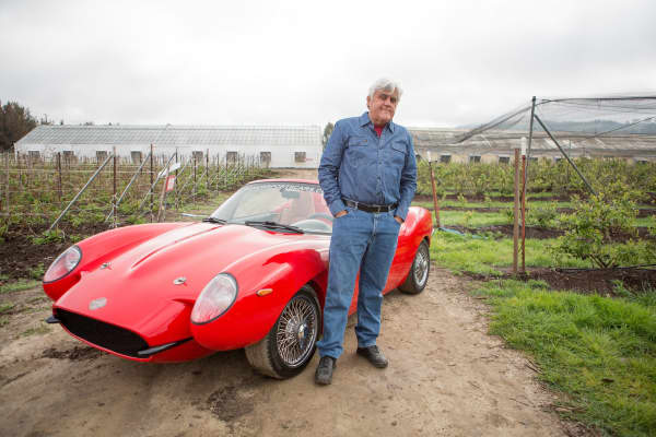 Image result for Jay Leno drives a car made out of cannabis