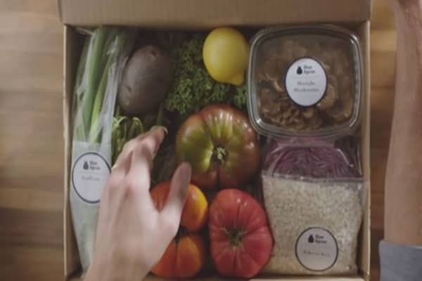 Amazon treads on Blue Apron's turf