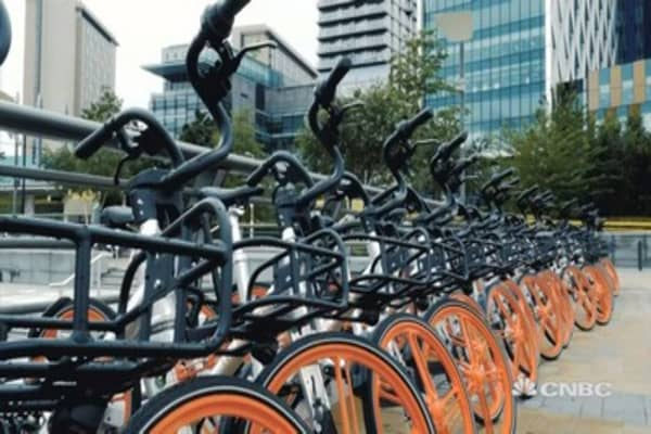 Bike-sharing the hottest start-up trend in China