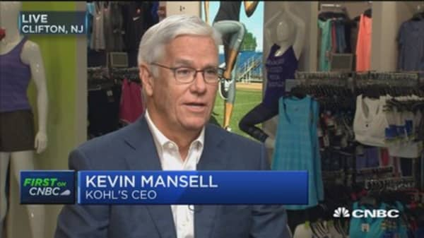 Kohl's CEO Kevin Mansell: Our stores are one of our biggest assets