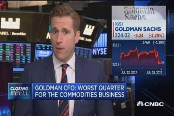 Goldman Sachs CFO: Worst quarter for the commodities business