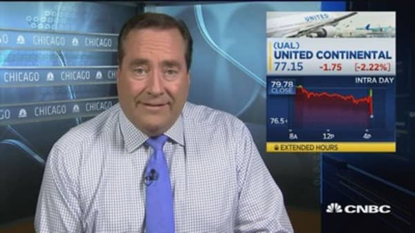 United Airlines beats on top and bottom line