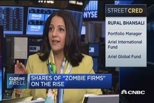 Shares of 'zombie firms' on the rise