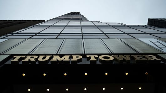 View of Trump Tower on Fifth Avenue