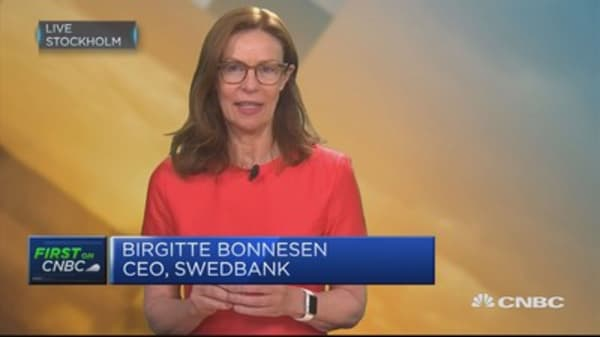 Swedbank CEO: Won't see big changes until negative rates end