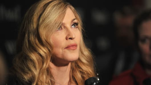 Madonna attends the Cinema Society & Piaget screening of 'W.E.' at The Museum of Modern Art on December 4, 2011