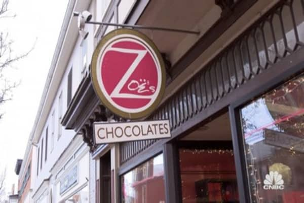 Marcus' first impression of Zoe's Chocolates
