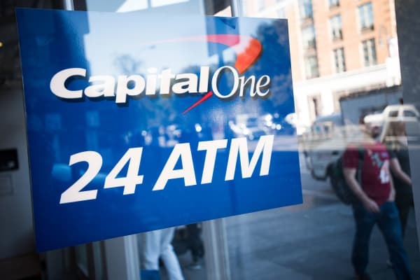 A Capital One bank branch in New York.