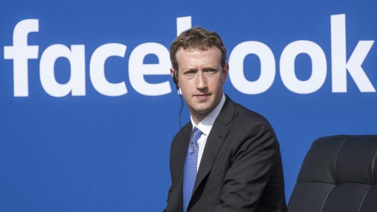 Founder and CEO of Facebook Mark Zuckerberg