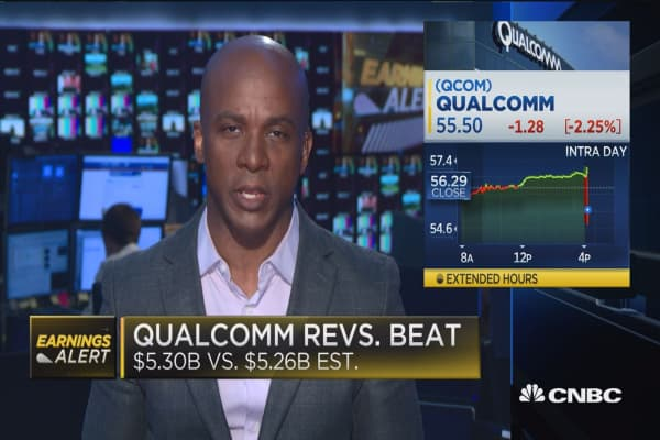 Qualcomm beats on top line
