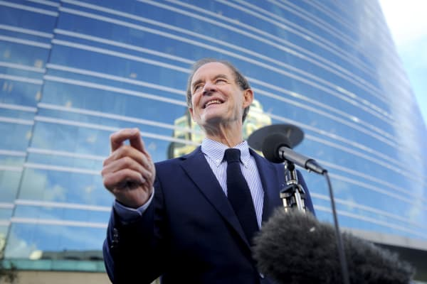 David Boies, an attorney representing Oracle Corp. in their copyright infringement case against SAP AG, in 2010.