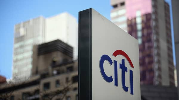 A 'Citi' sign is displayed outside Citigroup Center near Citibank headquarters in Manhattan on December 5, 2012 in New York City.