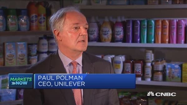 Unilever CEO: Investors happy with our plan