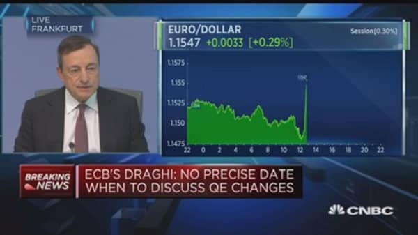 ECB's Draghi: Repricing of exchange rate has received some attention