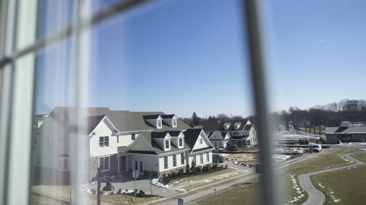 A housing development in Newtown Square, Pa. The government-controlled mortgage finance giant Freddi
