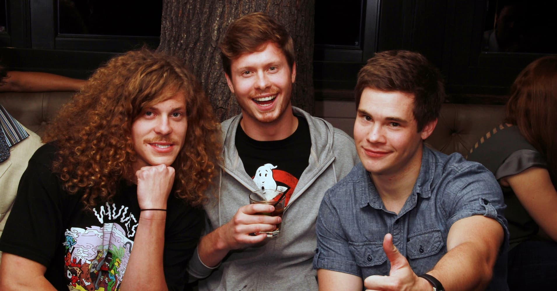 Actors Blake Anderson, Anders Holm and Adam DeVine of Comedy Central's 'Workaholics'