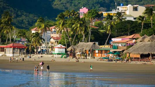 Beach at San Juan del Sur, Nicaragua.