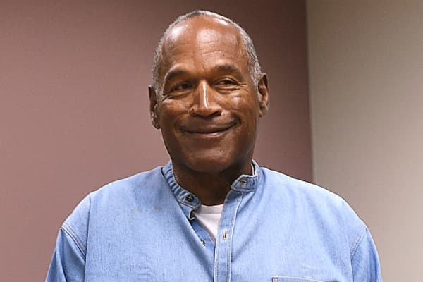 O.J. Simpson arrives for his parole hearing at Lovelock Correctional Centre in Lovelock, Nevada, U.S. July 20, 2017.