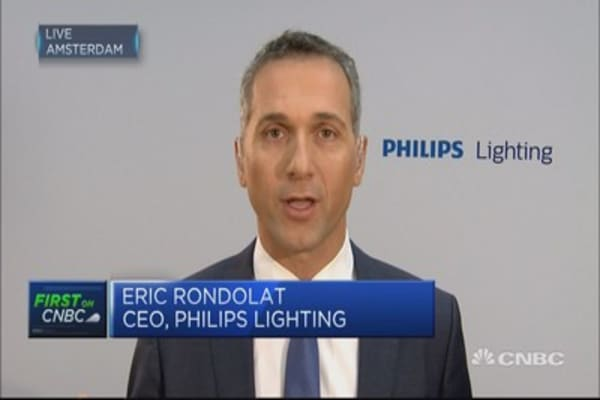 Philips Lighting: Will go back to growth in H2