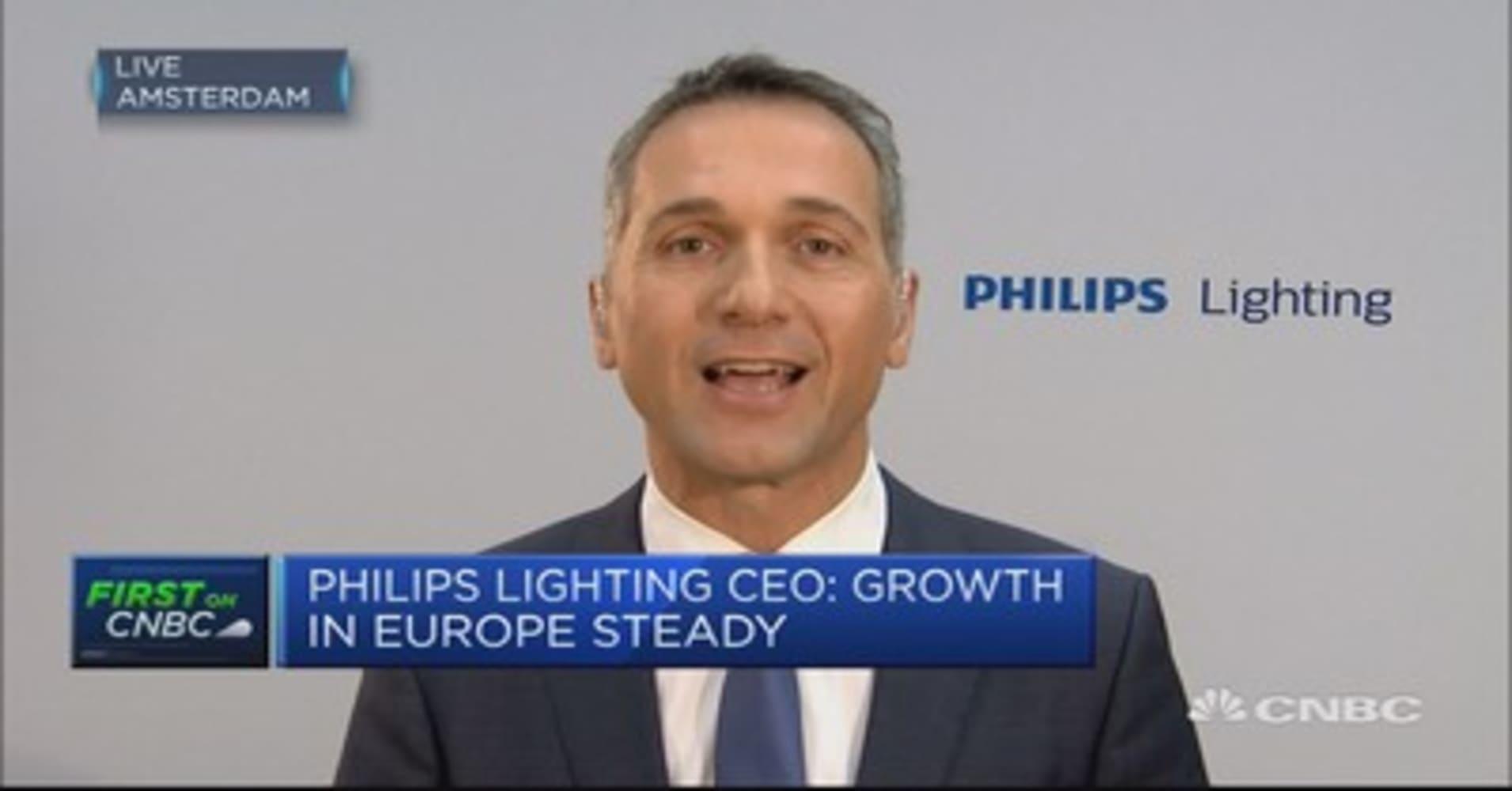 Philips lighting earnings ahead on better led home lighting margins philips lighting ceo growth in europe steady buycottarizona