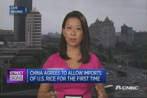 China to allow US rice imports for the first time