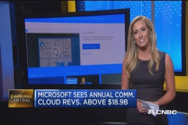 Microsoft's big beat all about the cloud