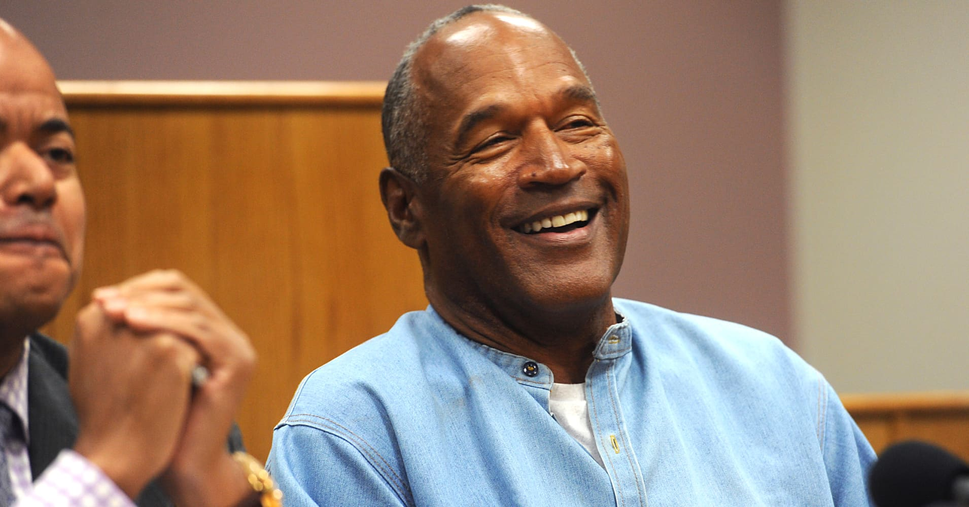 O.J. Simpson attends his parole hearing at Lovelock Correctional Center July 20, 2017 in Lovelock, Nevada.