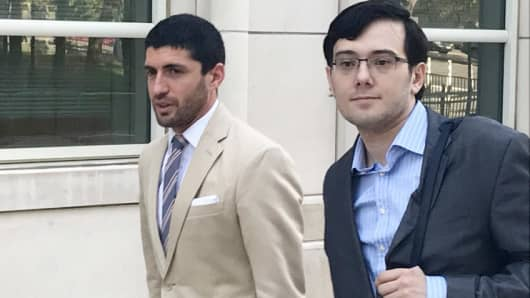 Martin Shkreli arrives to federal court in Brooklyn on July 21st, 2017.