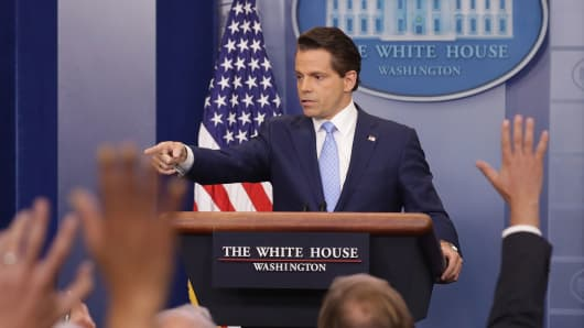 Scaramucci says 'TV cameras are back on' at White House briefings
