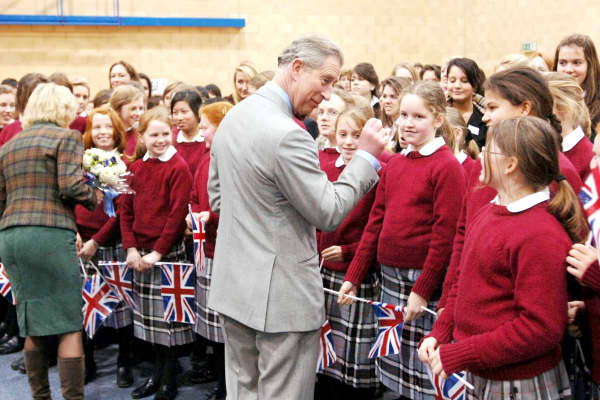 The Prince of Wales and the Duchess of Cornwall visit Westonbirt School, one of the country's top boarding schools
