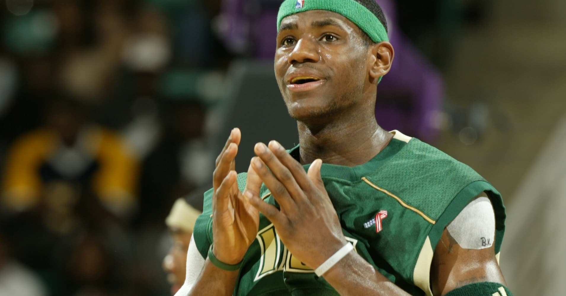 LeBron James played for St. Vincent High School