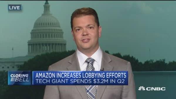 Amazon increases lobbying efforts