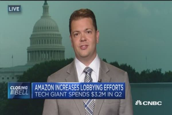 Amazon increases lobbying efforts