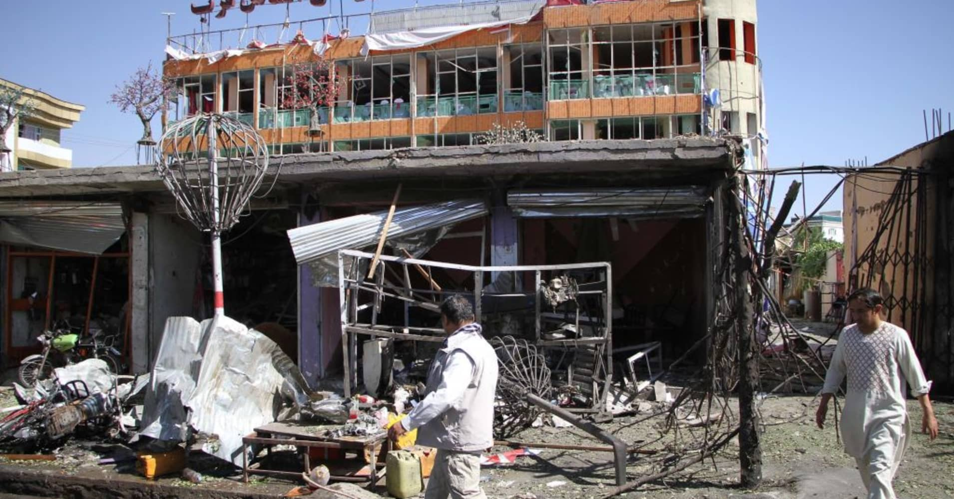 Taliban suicide car bomber kills at least 24 in Afghan capital