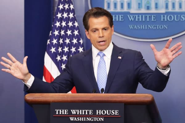 Image result for scaramucci talking