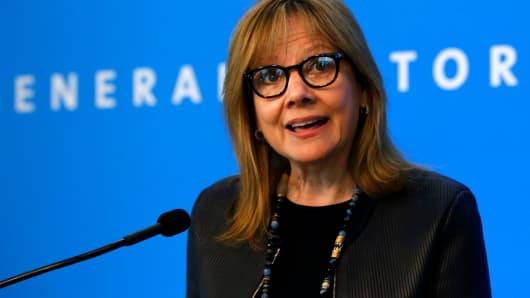 Mary Barra, chief executive officer of General Motors Co.