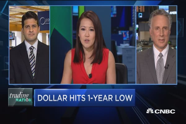 Trading Nation: Dollar hits 1-year low