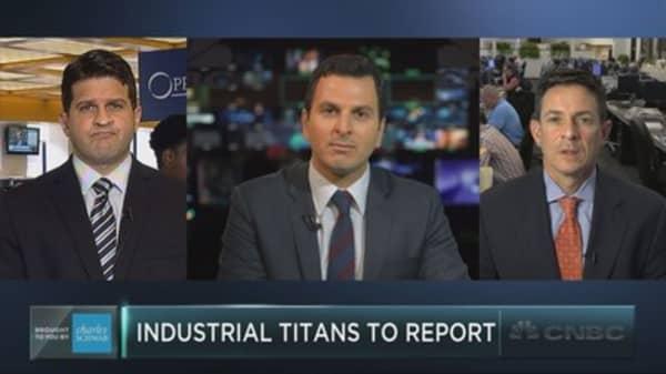 Trading industrial stocks ahead of earnings