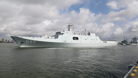 July 11, 2017 - Ships carrying Chinese military personnel depart Zhanjiang for a support base in Djibouti. The establishment of the People's Liberation Army Djibouti base was a decision made by the two countries after friendly negotiations, and accords with the common interest of the people from both sides, according to the PLA navy.