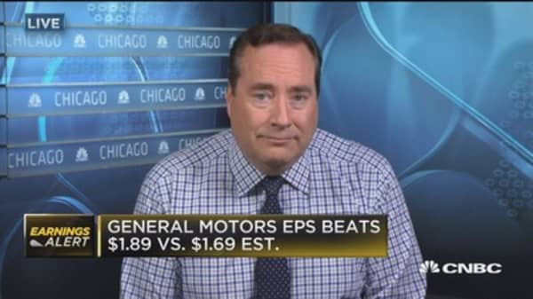 GM posts strong earnings beat