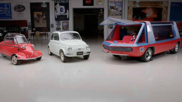Jay Leno gets appraisal of Messerschmitt, Fiat and George Barris Supervan