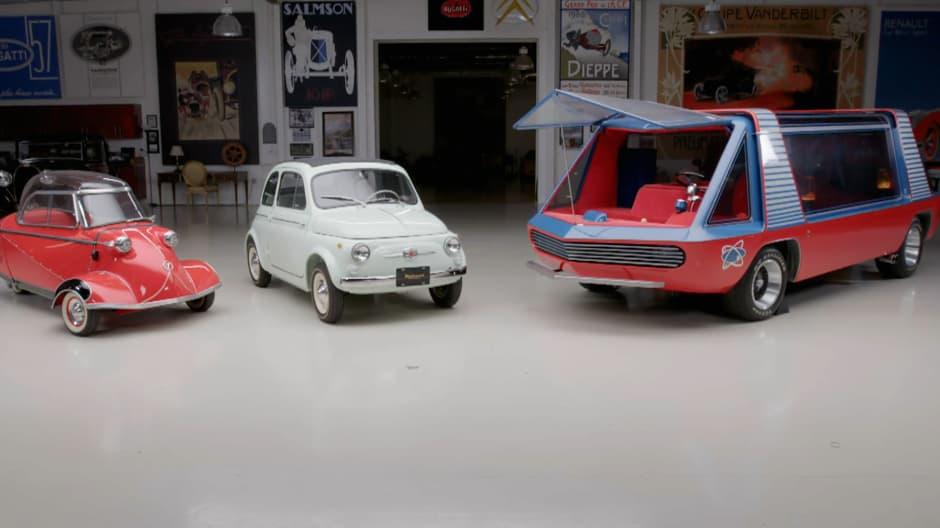 Jay Leno gets appraisal of Messerschmitt, Fiat and George Barris Supervan