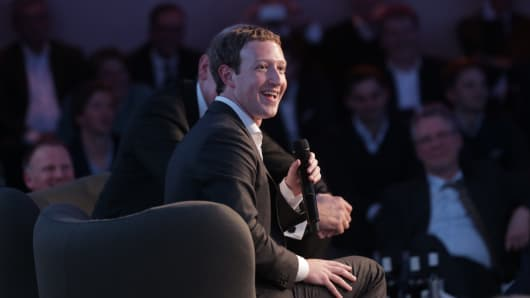 Facebook founder and chief Mark Zuckerberg receives the Axel Springer Award in Berlin on February 25, 2016 Facebook announced it was donating computer servers to a number of research institutions across Europe, starting with Germany, to accelerate research efforts in artificial intelligence (AI) and machine learning.