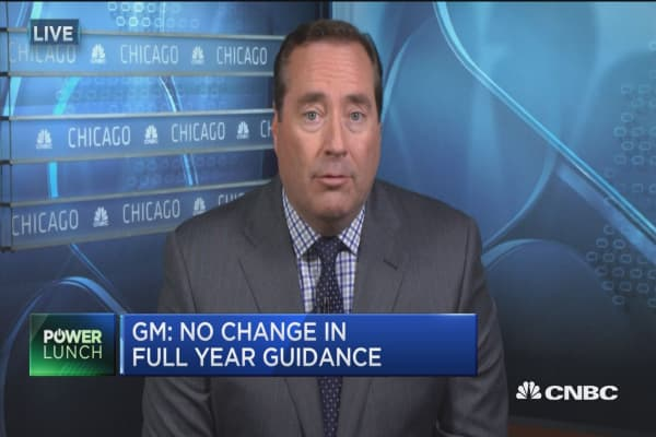 General Motors: No change in full year guidance