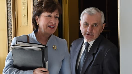 Sen. Susan Collins, R-Maine and Sen. Jack Reed, D-R.I.