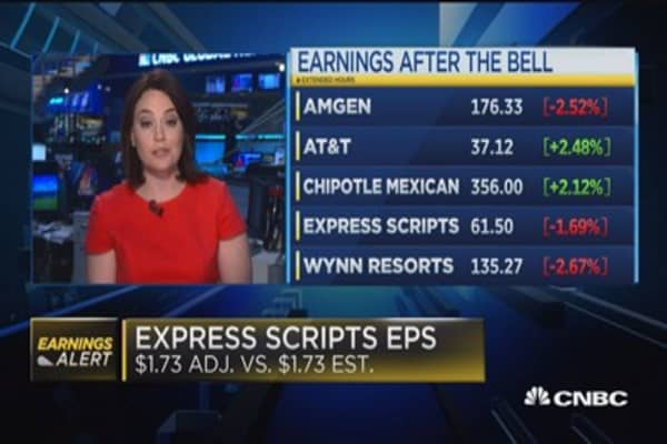 Express Scripts in line with expectations